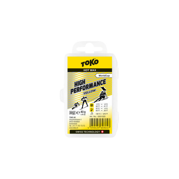 Toko High Performance Yellow 40g Skiwachs